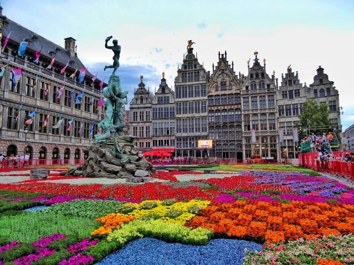 Flower Carpet Grand Place Antwerp Belgium World Wanderista