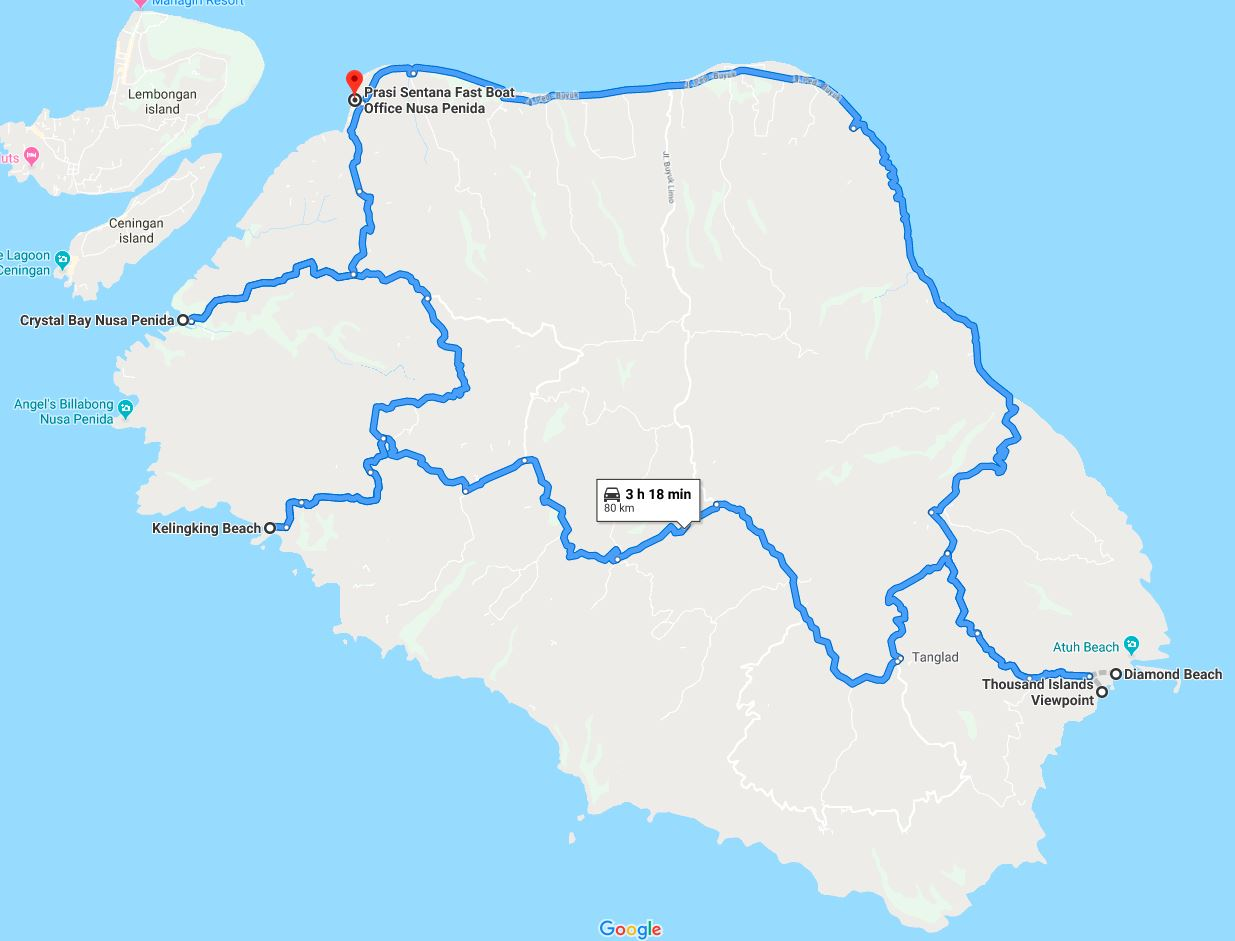 Bali Road Trip Map Nusa Penida World Wanderista